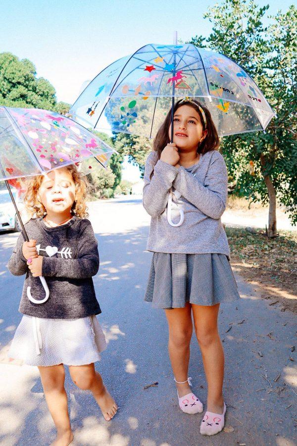 עיצוב מטריות שקופות